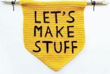 Crochet + knit + yarn = love