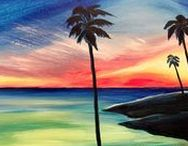 Beach Lovers / Seaside or lakeside, this board has has a painting for every beach lover and beach bum.