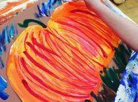 Fall Art Projects / Art Projects for Kids | Art Lesson Plans | Crafts for Kids |  Fall Art Lessons | Painted Paper Art