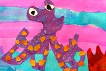 Under the Sea! / Art Projects for Kids | Art Lesson Plans | Crafts for Kids | Painted Paper Art