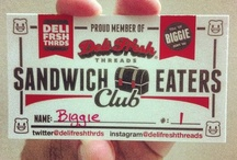 Sandwich Eaters Club / If you eat sandwiches than you are a member of the Sandwich Eaters Club.    I wanted to do something that would give you an opportunity to have your own card showing you are a Sandwich Eater!