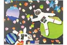 SPACE: Out of this World / Art Projects for Kids | Art Lesson Plans | Crafts for Kids | Space Art Projects | Painted Paper Art