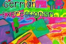 Expressionism /  Art Projects for Kids | Art Lesson Plans | Crafts for Kids | Mixed Media Landscapes and German Expressionism Art Lessons | Art History Lessons | Painted Paper Art