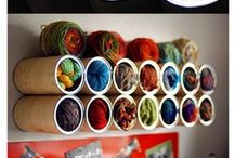 Yarn storage ~ Ideas para almacenar lana / Ideas útiles para almacenar lana/hilos