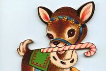 Christmas - Vintage graphics / Vintage,  retro, and kitschy items from Christmases past. A special nod goes to mid century