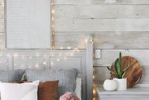 Bedroom Inspo / Your bedroom should be somewhere you WANT to spend time.  Make it pretty and cozy, believe me, you'll be sleeping later before you know it!