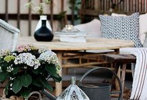 Deck Decor / Creating a cozy outdoor space is just as important as the inside of your home.