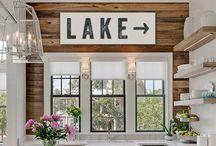 Lake House Decor / We live at a lake so...