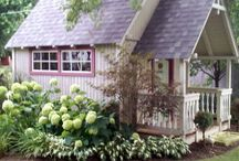 She Shed/Playhouse / Gathering ideas on how to landscape around the playhouse.