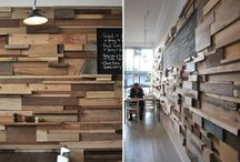 Wood, rocks and a few ingredients recycled.  Reclaimed! / Painted wood, bamboo, rustic elements