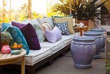 Outdoor living spaces. / Outdoor living spaces