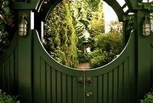 garden gates, walls and picket fences / by Elizabeth A