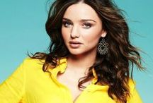 Brunettes: Miranda Kerr / Victoria's Secret Angel Miranda Kerr...also the wife of Orlando Bloom and mother of his child.