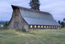 Barns - Old and New / Old and new barns / by Niki Myers Hansen