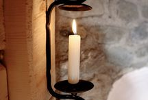 candle wall sconces / by Elizabeth A