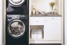 Laundry Room / Sometimes we need ideas of how to use a small laundry room optimally, and sometimes we just wish it was prettier.  This has ideas for both!