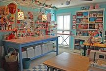 Craft Room Organization& Storage / Great organization ideas, cabinets, racks and bins to make your creative space a work of art in itself.