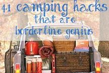 Camping / Organization tips and tricks. Recipes for campfire cooking or quick easy meals. DIY money saving items.