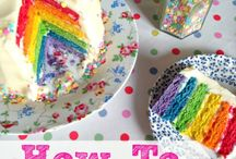 RAINBOW Cakes, Bakes and Treats! / Rainbows cakes and bakes make me happy! Baking a rainbow cake, rainbow cupcake, or rainbow cookie is surprisingly easy too!