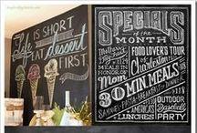 Chalk Art / Chalk board ideas