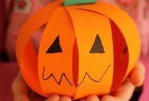 Halloween crafts and activities / Halloween crafts for kids, fun Halloween activities, Halloween sensory play, Halloween party food, pumpkin crafts, cats, bats and more! / by Cathy James @ NurtureStore