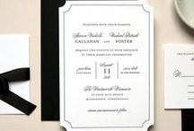 Black and White Wedding Invitations / Black and White Wedding Invitations Modern Elegant Black and White Wedding Invitations Modern Chic Stylish Black and White Wedding Invitations Black and White Stripe Classic Timeless Elegant Wedding Invitations