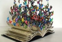 Book Lover / Stuff made out of books. Stuff made with book pages. Stuff made FOR books. DIY ideas for BOOKS.