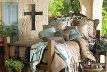 Bedroom Decorating / A bedroom should be relaxing and inviting ... Imagine reading in a rocking chair with a fire blazing -- Doing a Bible study and a cup of coffee with a cool breeze blowing the curtains  / by ✨❤️✨ Lori Ann ✨❤️✨