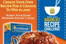 2012 Baking Kit Recipe Challenge / Auntie Anne's 2012 Baking Kit Recipe Challenge has come to an end. Check back soon to see this year's winning recipes!  For now, the Top 10 Finalists in last year's Recipe Challenge are featured on this board.  / by Auntie Anne's Pretzels