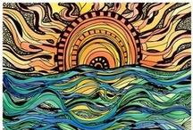 Zentangle-Inspired & -Inspiring Art