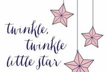 "Twinkle, Twinkle Little Star / The Twinkle, Twinkle Little Star a curated board based on The Little Star Collection, a themed ""party-in-a-box"" concept from Petite Parties (a specialty popup shop by Feterie). It's perfect for a Baby Shower or First Birthday with all the accoutrements that makes throwing a spectacular party effortless — from paper stationery & decor to table linens and plates to even the sweet treats. Shop the Little Star Collection here: http://bit.ly/littestar"