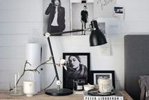 INTERIOR INSPIRATION | WORKSPACE IDEAS / Ways to organise your workspace efficiently and make it inspiring.