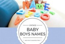 Baby Names / Choosing a baby name or looking for a way to share what you've called your newborn? Check out these adorable name ideas (and baby pictures!)