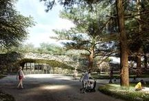 """""""Garden of the 21st Century"""" Royal Lazienki Museum (Warsaw, Poland) / A team consisting of Mecanoo, Michael van Gessel, Delva Landscape Architects and Jojko Nawrocki Architekci has won a competition to design the Royal Lazienki Museum in Poland's capital. The 1,800 square meter museum will be buried beneath a triangular, 2.5 hectare """"Garden of the 21st Century"""" in Lazienki Park, one of Warsaw's most popular cultural destinations."""