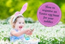 Easter with your baby and toddler / From cute Easter outfits for your baby to how to organise an Easter egg hunt for your toddler, we've got lots of advice and tips to make Easter happy for the whole family.