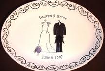 Signature Platters / A great creative alternative to a guest book!