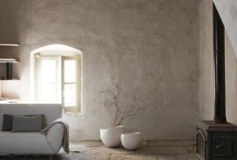 Interiors & furnitures / Luminous, natural and zen interiors for reading, writing and living.