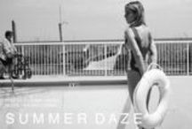 Summer Daze / Memorial Day Lookbook. Featuring the Malibu One Piece in Blue, Daytona Top in Burgundy, Monica Top in Blue, Ramona Bottom in White. Available at www.southcastles.com/swimwear