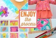 Kids Process Art / Ideas for Kids' Process Art Projects!