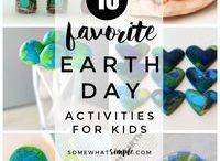 Earth Day Activities / Activites, Crafts, Printables, and more for teaching and celebrating Earth Day with kids and students!