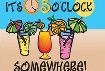 "Drinks...It's 5'o clock somewhere  :) /  ""When life gives you lemons, get some tequila and salt and make margaritas""  / by J H"