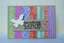 Cards..Using up those SCRAPS / Using up scraps that add up and can't bear to throw away  :)