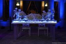 "Oh so stunning Sweetheart Tables designed & created by NFL / Celebrity Wedding Planner Tiffany Cook / A collection of our exclusive Tiffany Cook Design Sweetheart Tables, Created by Celebrity Wedding Planner Tiffany Cook of WE TV's ""Platinum Weddings"" . For more Decor ideas, check out tiffanycookevents.com"