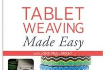 Tablet Weaving Made Easy / These are behind the scenes photos from the video shoot for Tablet Weaving Made Easy with John Mullarkey. They were taken at the Interweave Video Studio in Loveland, CO. / by Weaving Today
