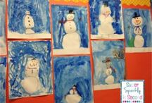 Winter Wonderland / Christmas crafts and wintry center ideas for the month of December