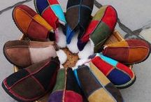 Sheepskin slippers / Handmade Slippers and Mules in wonderful colours