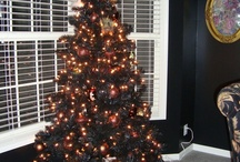 "2010 Mystery Christmas Tree / This tree was the ""Black Eyed Peas""- all the ornaments start with the letter ""P"" and have black eyes / by Laura Riffel"