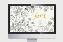 Calendrier wallpaper / Calendrier à télécharger en fonds d'écran  Calendars wallpaper