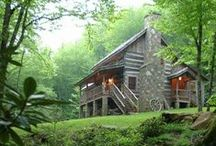 Cabin / A little house in the big woods, inside and out. / by Laura Jane Roland