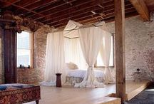 Loft / Big windows, high ceilings, brick and wood and light. / by Laura Jane Roland